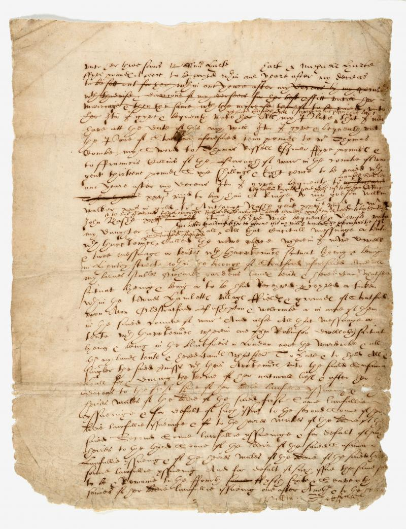 William Shakespeare's last will and testament, leaf 2